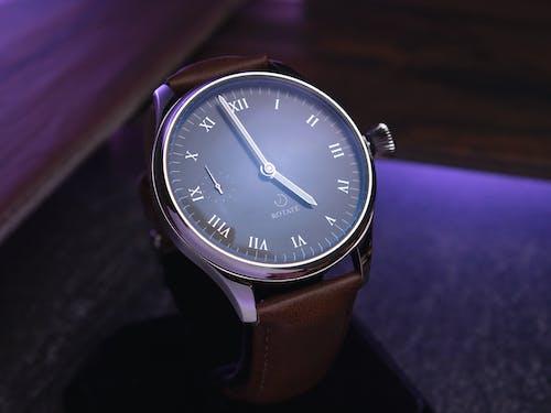 Close Up Shot of Elegant Analog Wristwatch