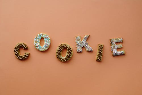Flat Lay of Letter Shaped Cookies