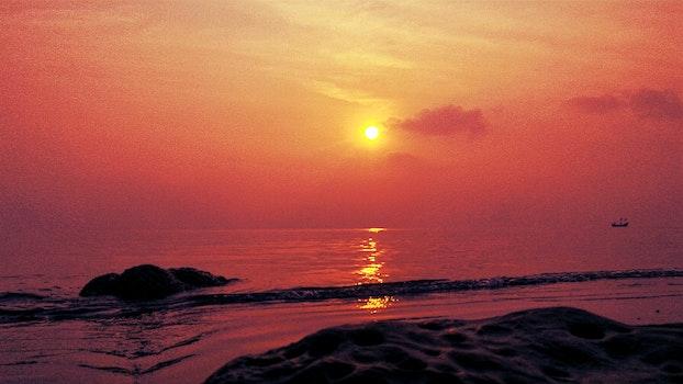 Free stock photo of sea, sunset, beach, bangladesh