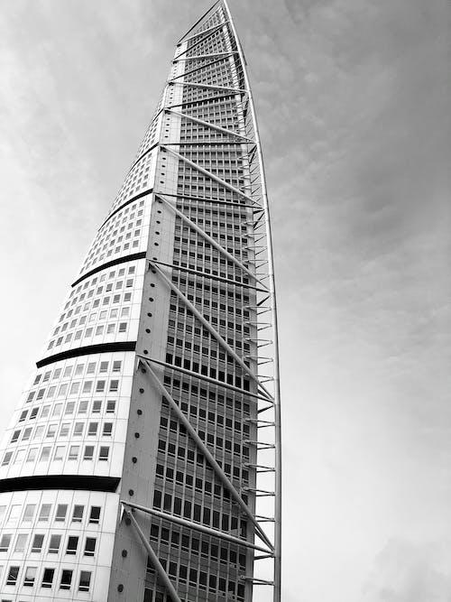 คลังภาพถ่ายฟรี ของ ขาวดำ, ตึกระฟ้า, ทันสมัย