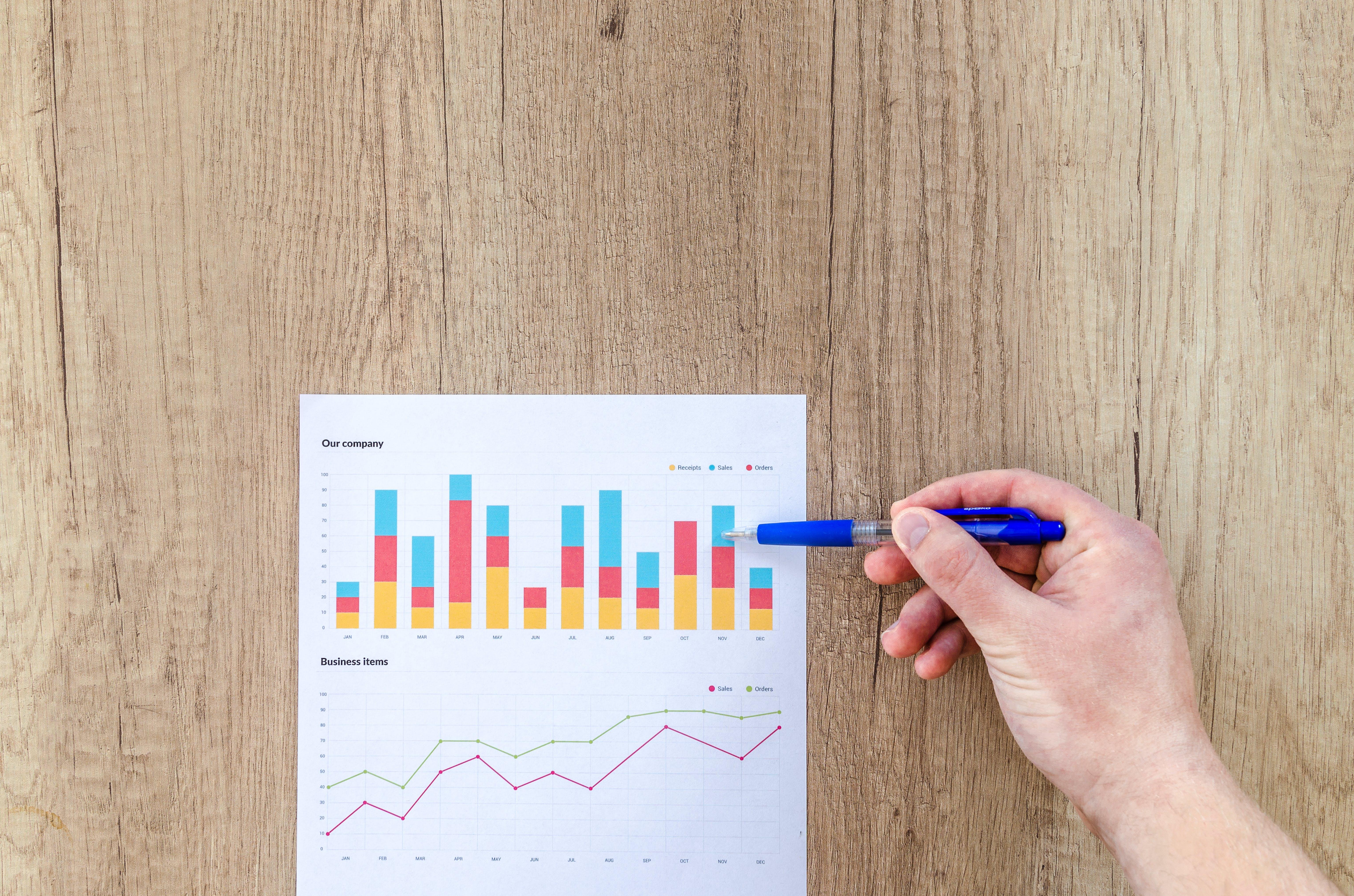 chart, graph, hand