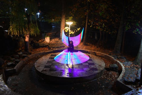 Free stock photo of dance, light painting, lightpanting, night