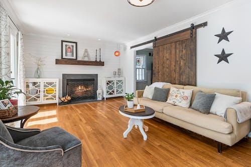 White and Gray Living Room Set