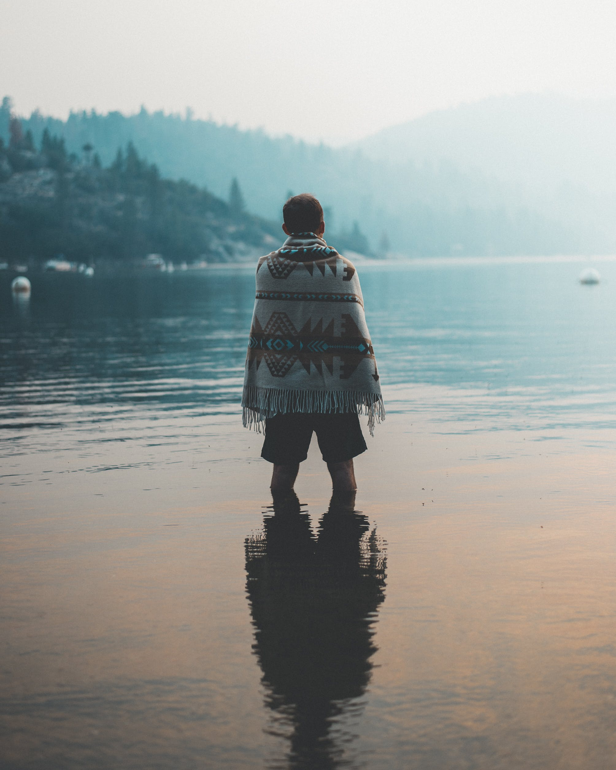 Free stock photo of cold, nature, man, water