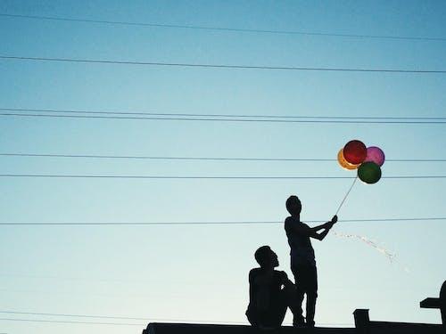 balon, balonlar, dar açılı çekim, doğum günü içeren Ücretsiz stok fotoğraf