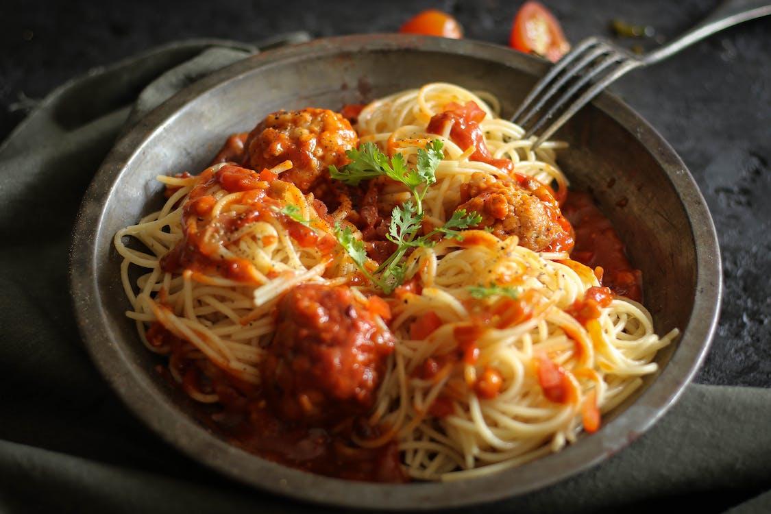 Free stock photo of food, spaghetti