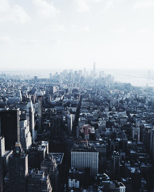 New free stock photo of city, bird's eye view, skyline