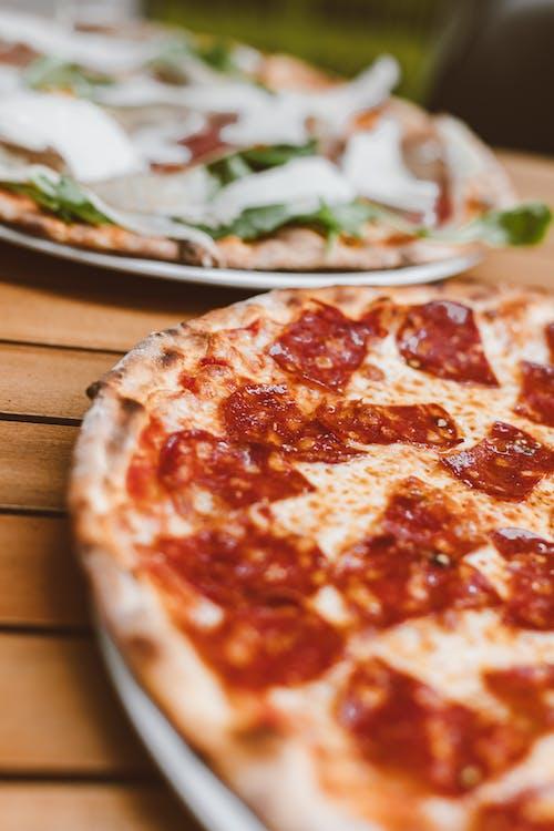 Close Up Shot of Pizza