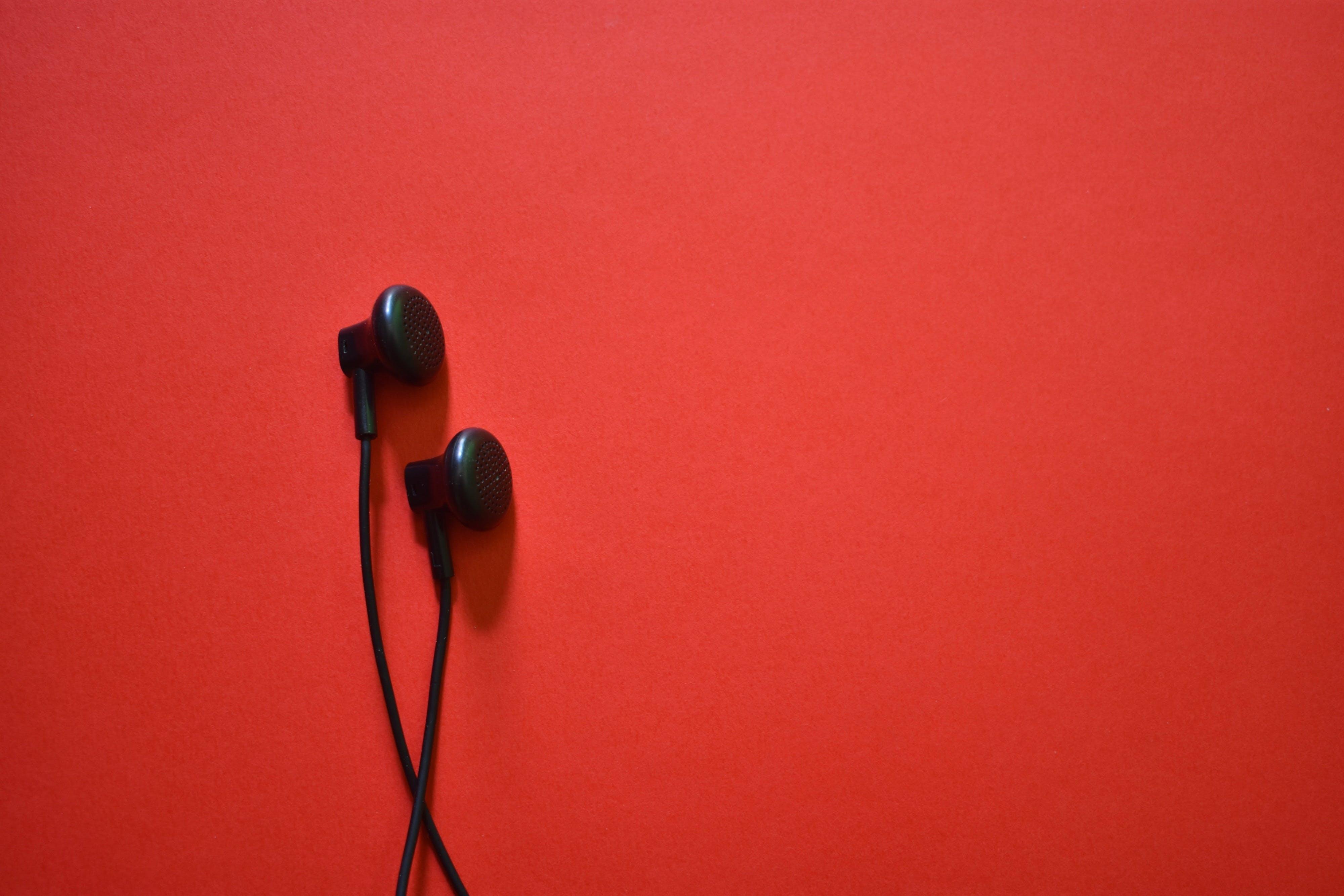 earphones, listen, music