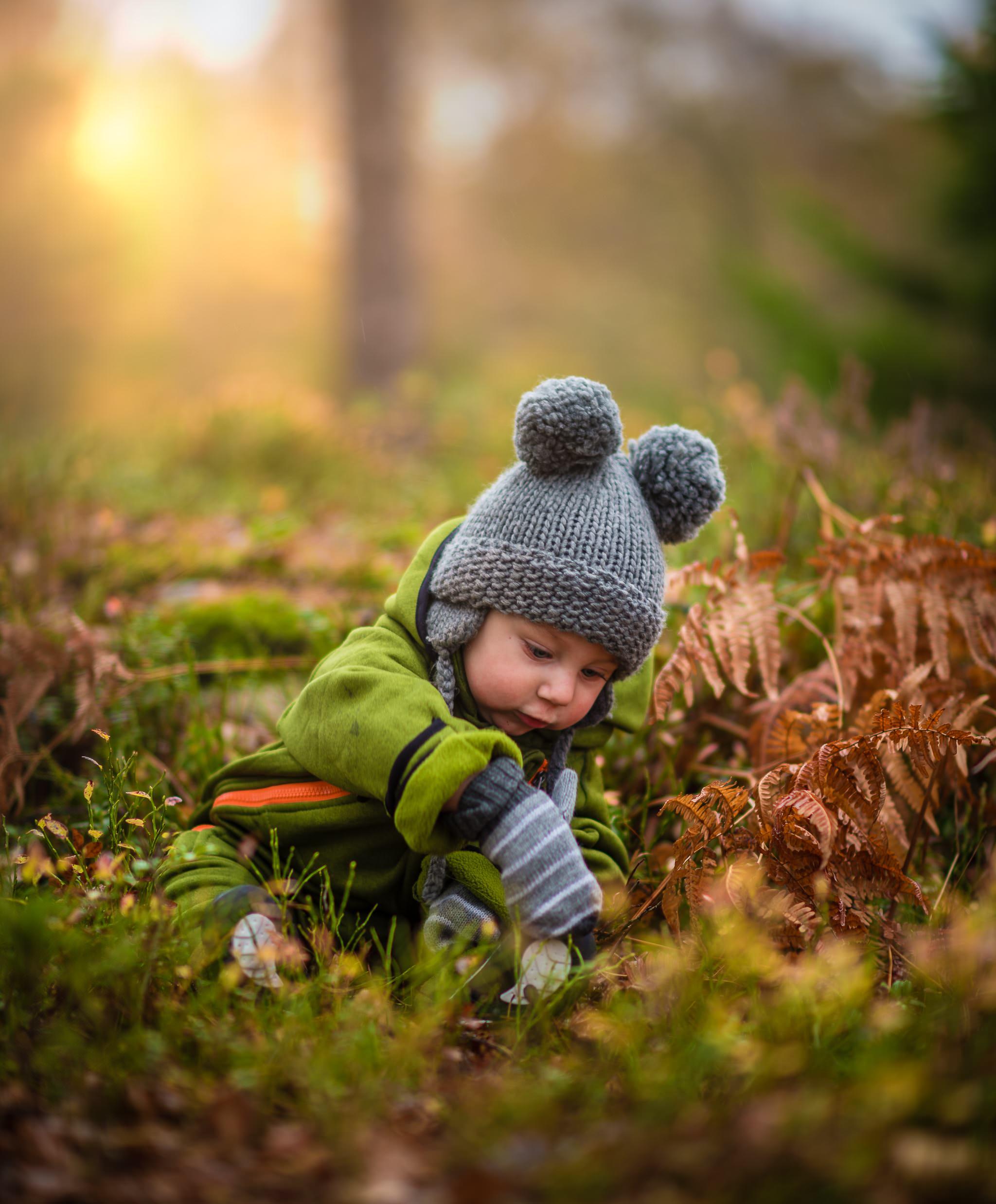Boy in Gray Knit Hat