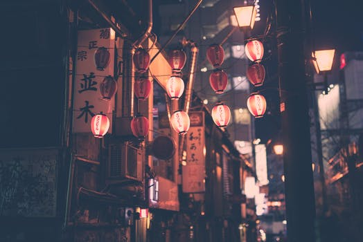 Free stock photo of street, lamps, asia, Japanese