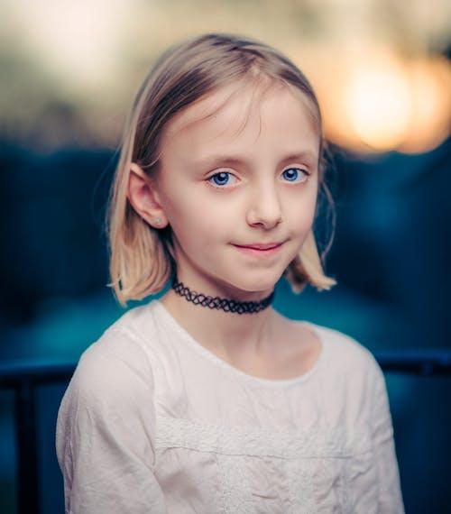 Girl Wearing Black Choker Necklace