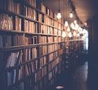 lights, books, blur