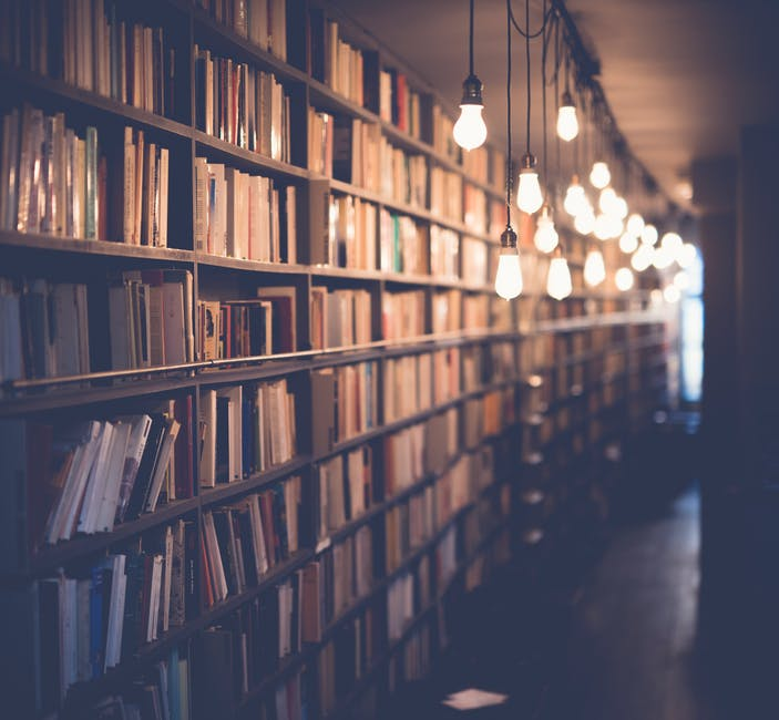New free stock photo of lights, books, blur