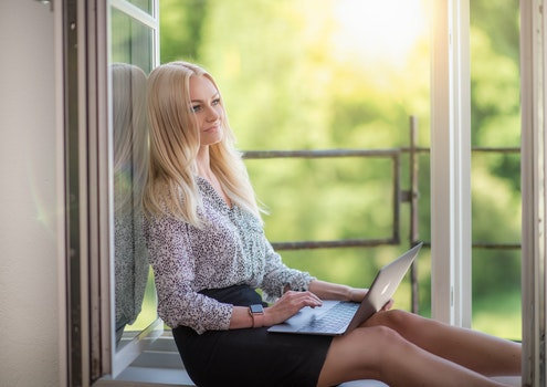 Free stock photo of fashion, person, woman, laptop