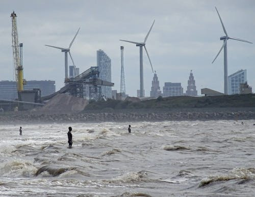 Free stock photo of gormley, liver birds, statues