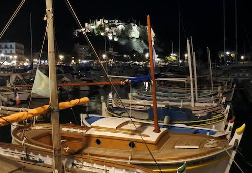 Free stock photo of harbour, night