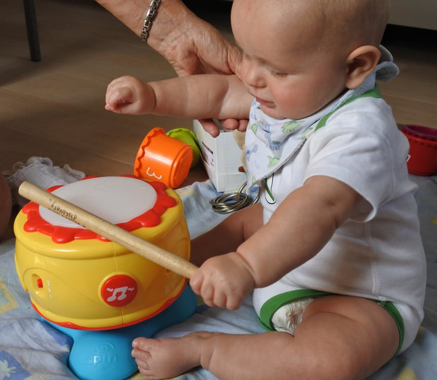 Free stock photo of baby, drum