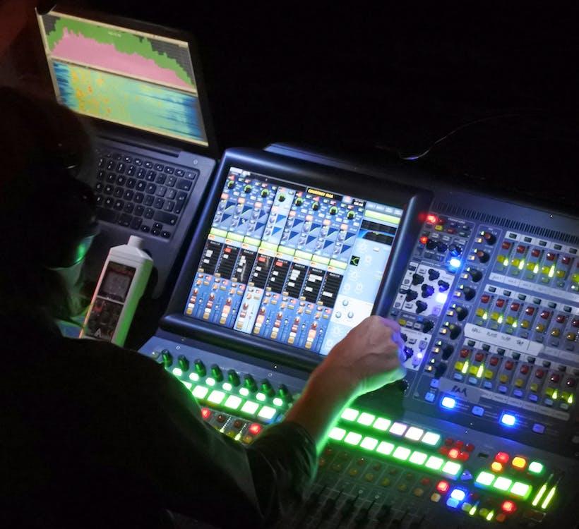 Free stock photo of sounddesk