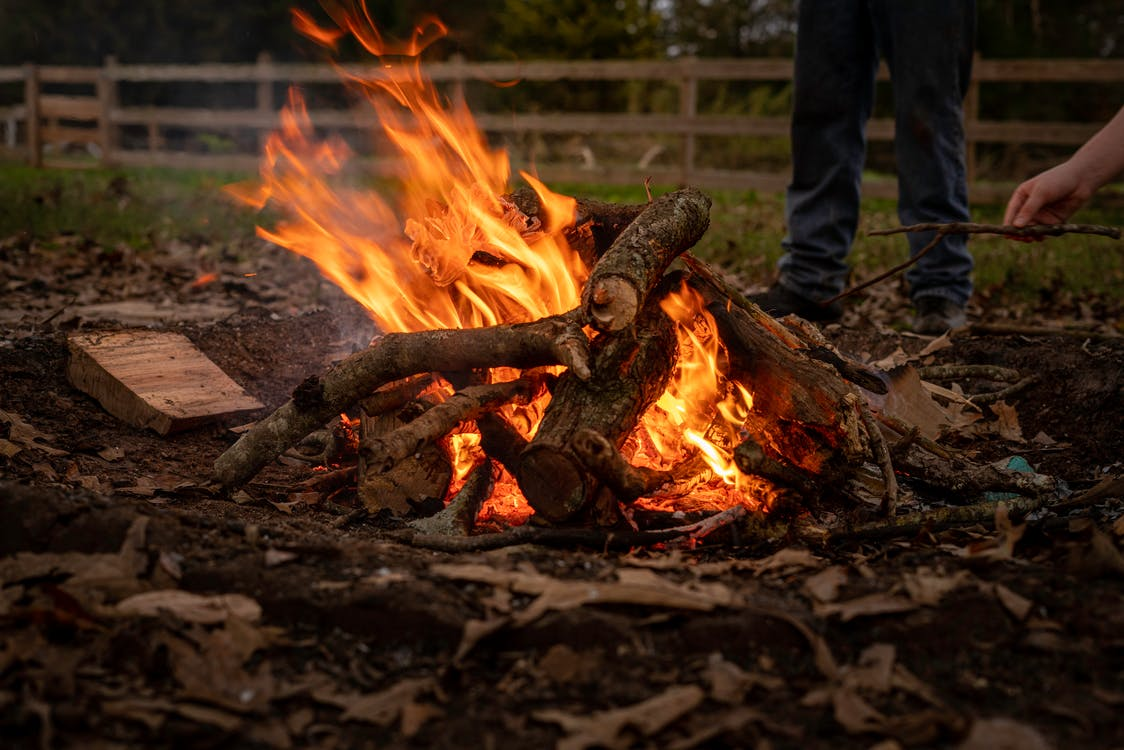 Close Up Shot of a Bonfire