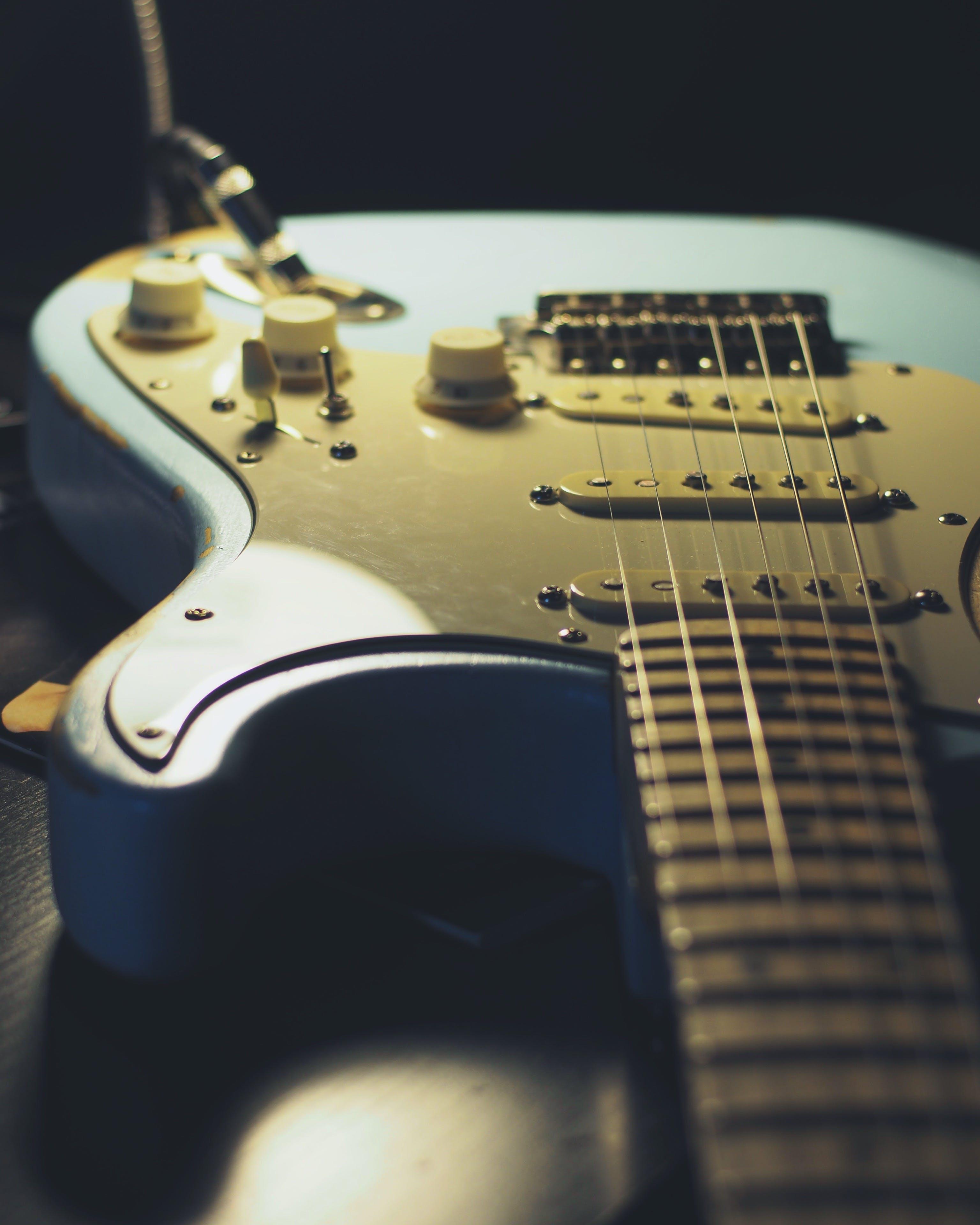 Základová fotografie zdarma na téma amp, blatník, elektrická kytara, hudba