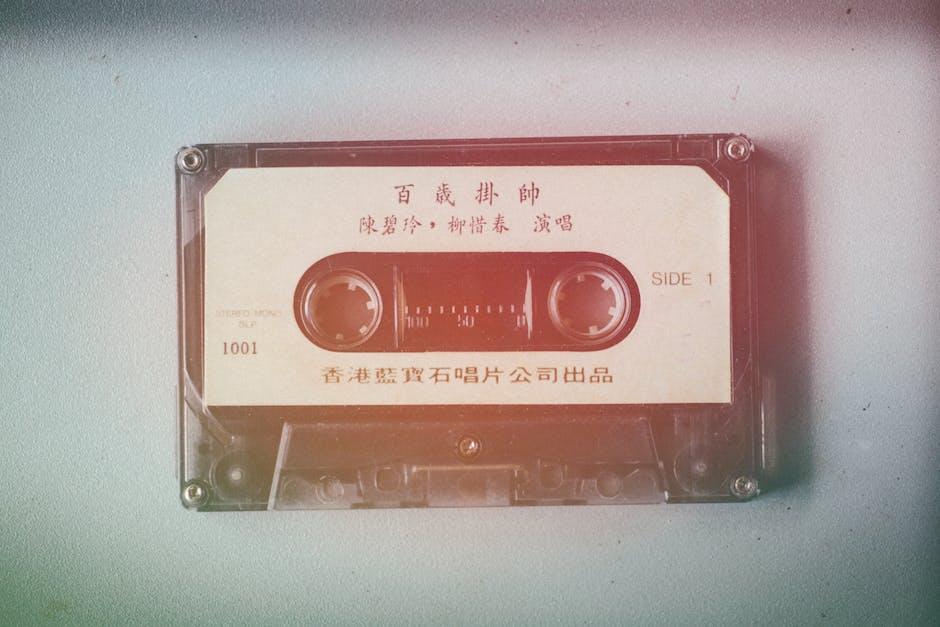 Analog audio cassette cassette tape