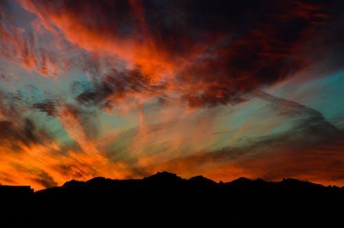 cloudscape, アウトドア, アート, オレンジの無料の写真素材