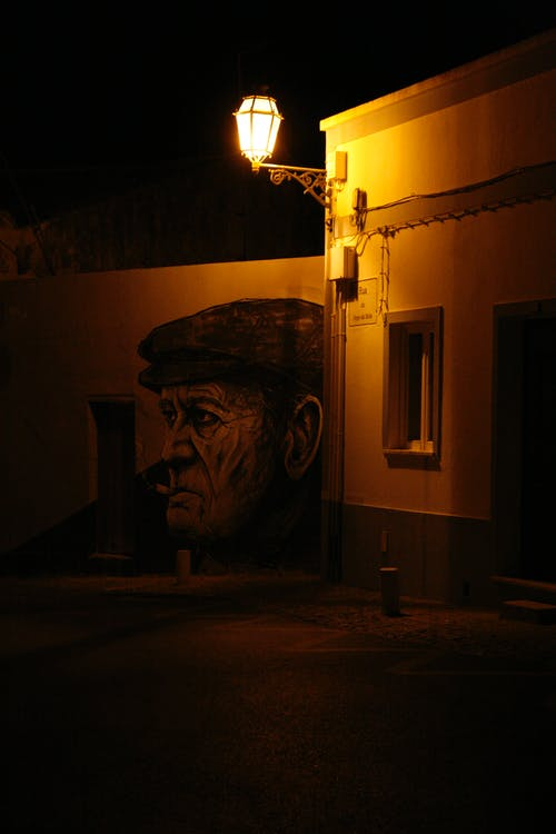 Free stock photo of empty street, night, portugal, street