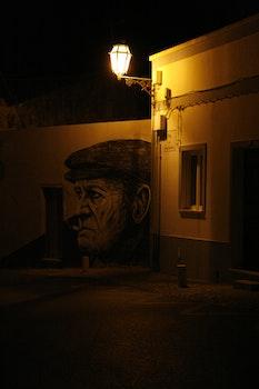 Free stock photo of night, street, street art, street lamp