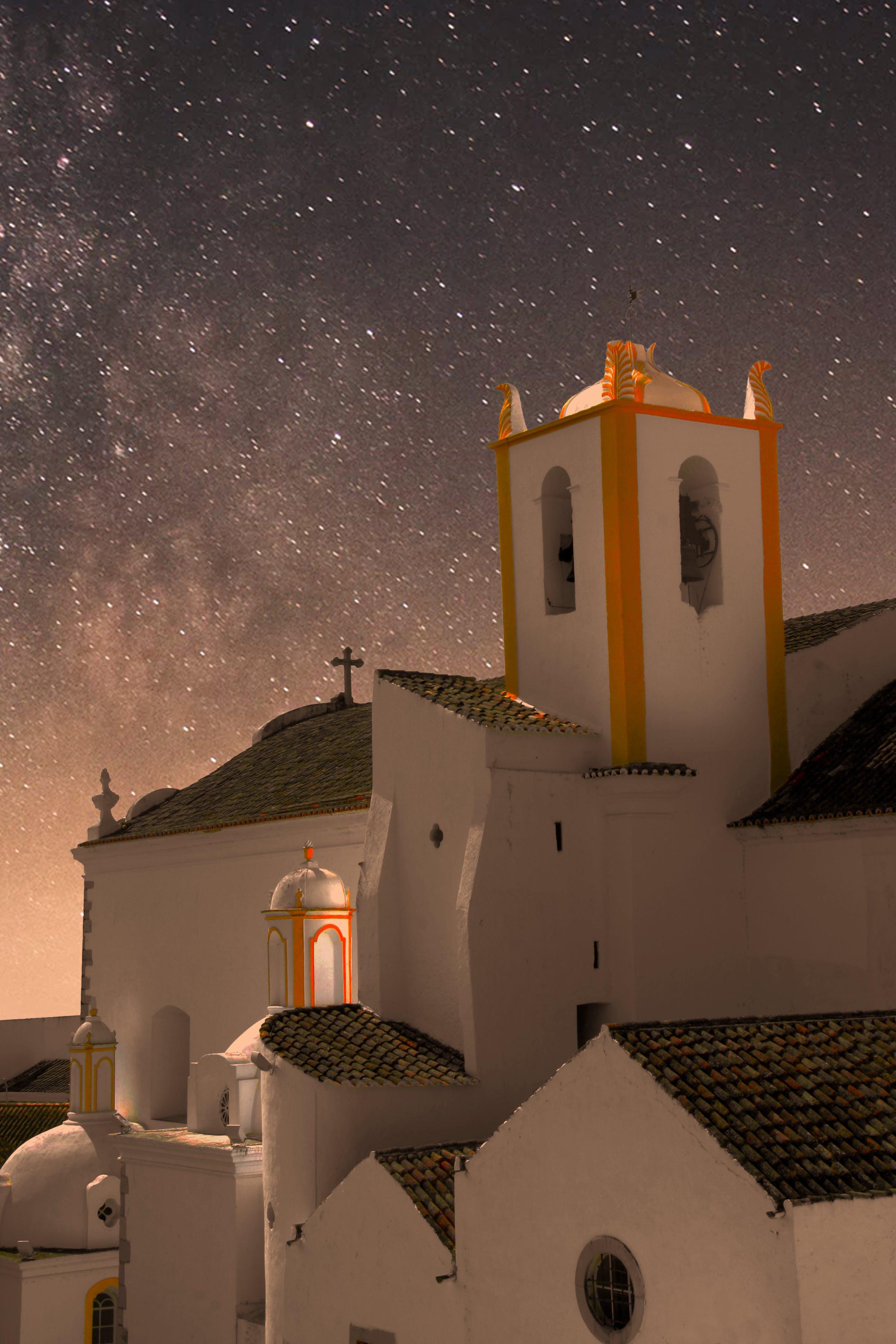 Free stock photo of church, night, portugal