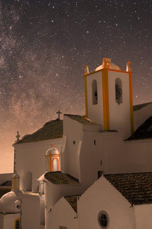 교회, 밤, 포르투갈의 무료 스톡 사진