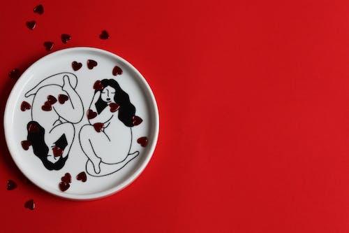 Plato Redondo Mickey Mouse Blanco Y Rojo