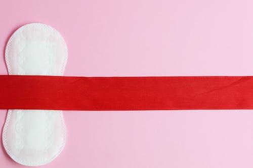 Menstrual Pad on Pink Background