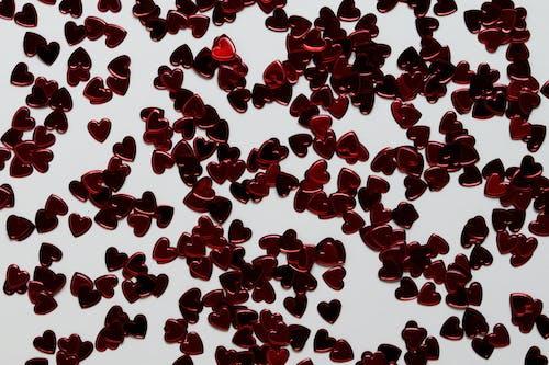 Decoraciones En Forma De Corazón Rojo Y Blanco