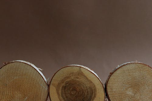 Close Up Shot of Round Wooden Chopping Boards