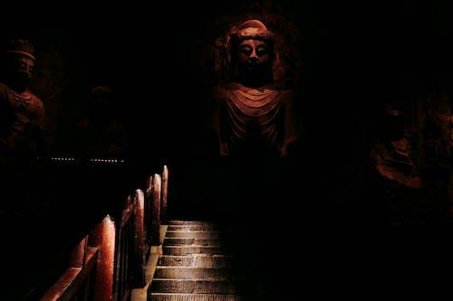 Buddha Statue on Stairs