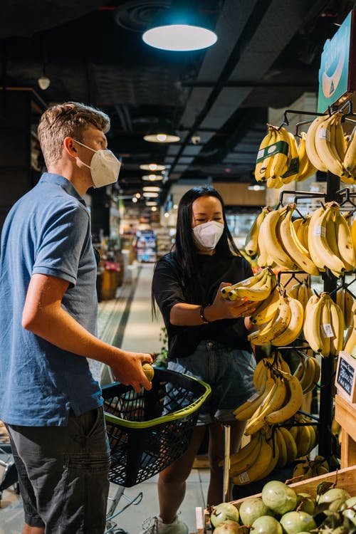 A Couple Buying Fresh Fruits During Pandemic
