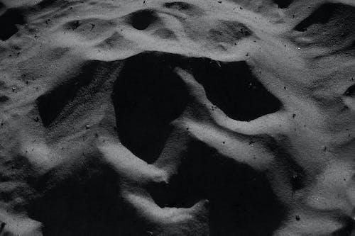 Sandy dunes in arid desert terrain