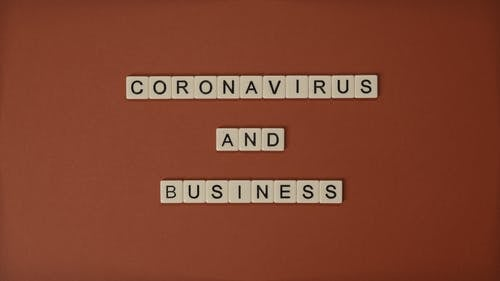 Coronavirus and Business Text Using Tiles