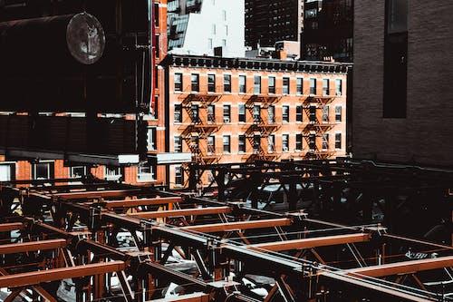 Orange Concrete Buildings
