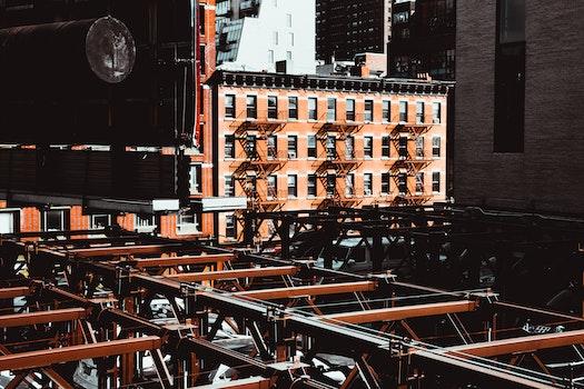 Free stock photo of city, buildings, metal, skyscrapers