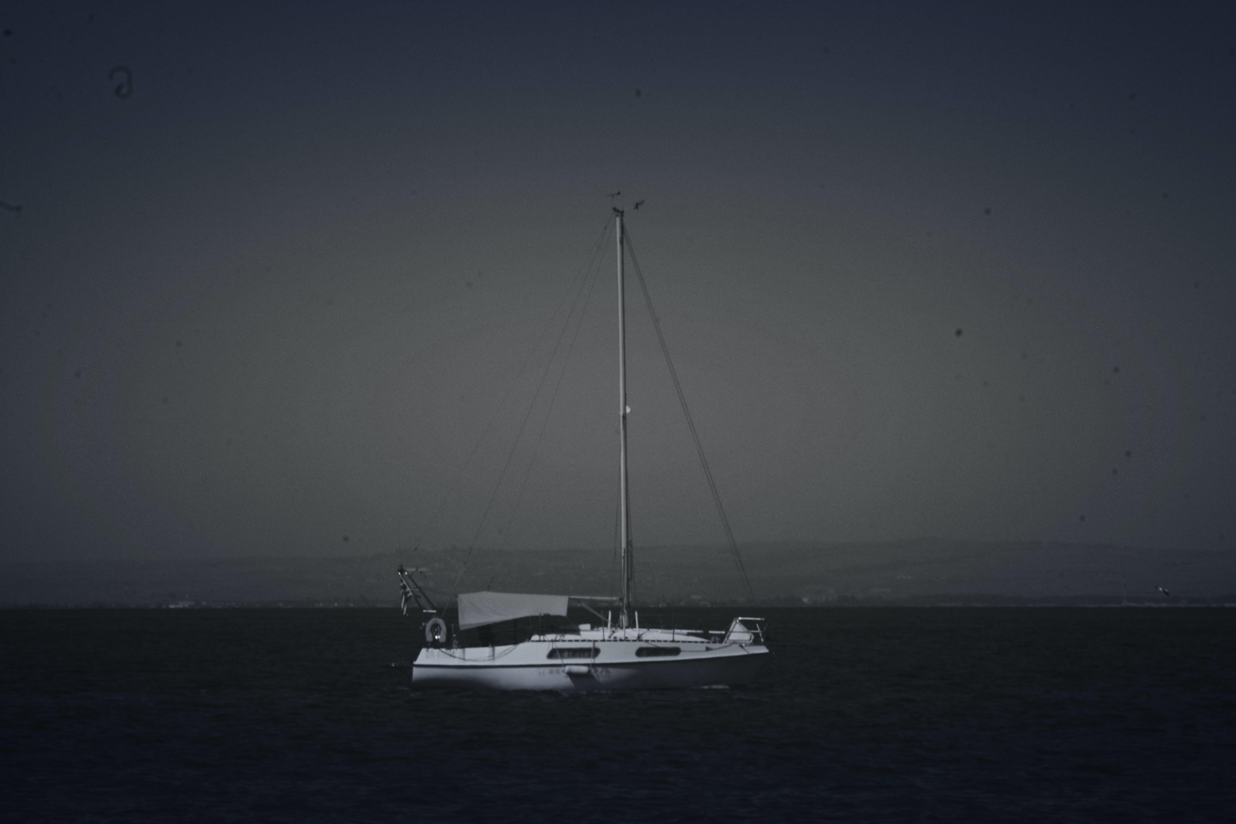 Free stock photo of black and white, boat, greece, Halkidiki