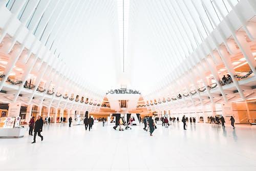 People walking in World Trade Center