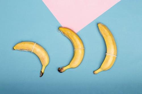 Yellow Banana on Purple Paper