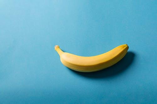 Yellow Banana on Blue Textile