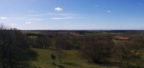 Free stock photo of blue sky, denmark, fields