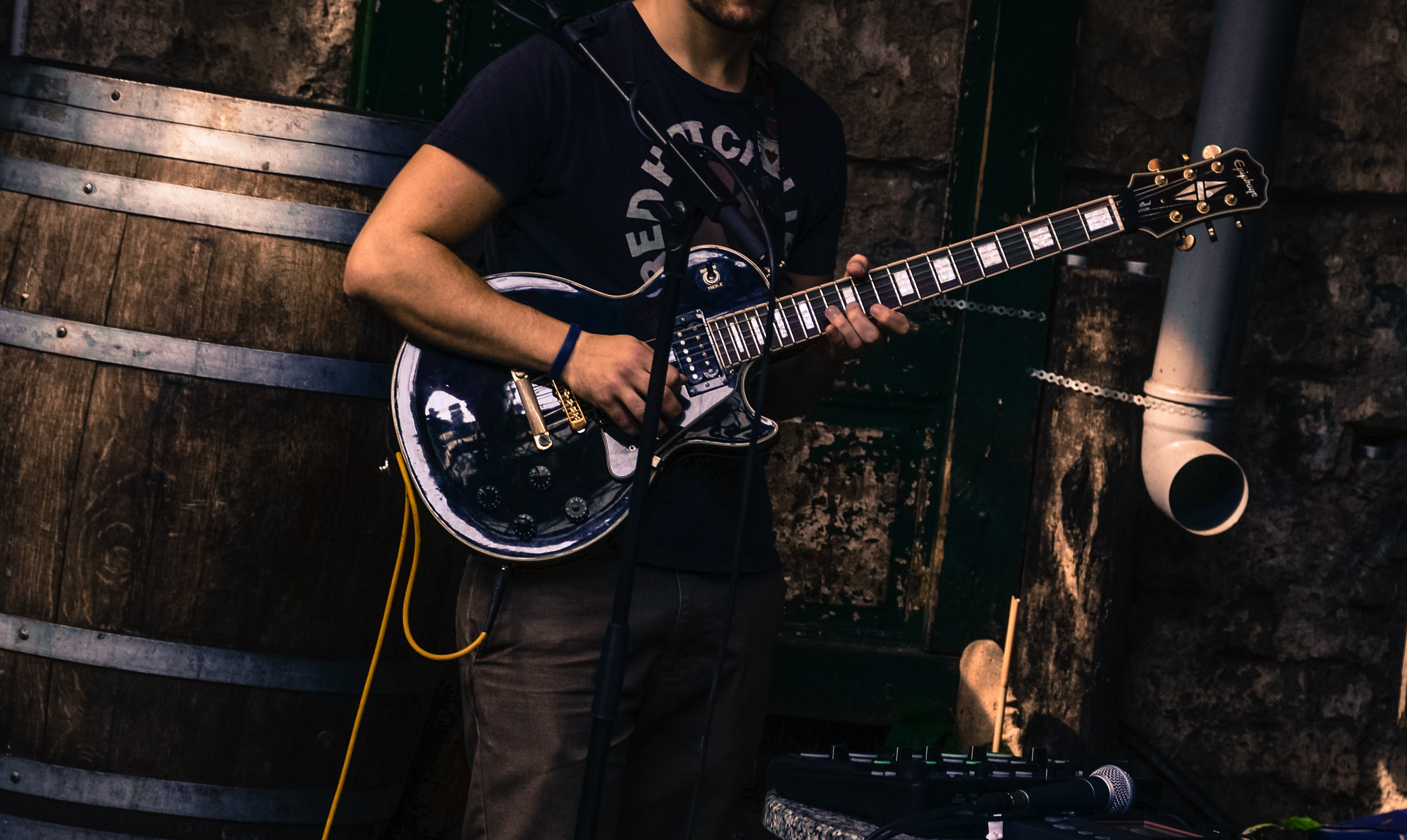 Free stock photo of man, dark, playing, music