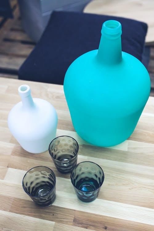 bersih, biru, botol
