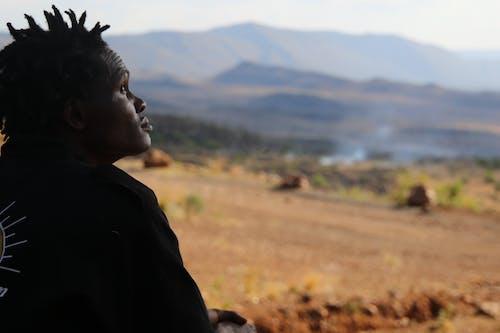 Free stock photo of african man, black man, bush fire