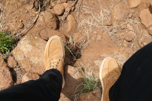 Free stock photo of brown shoes, hike, hiking